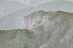 Senza titolo - Terre colorate su tela 90x85